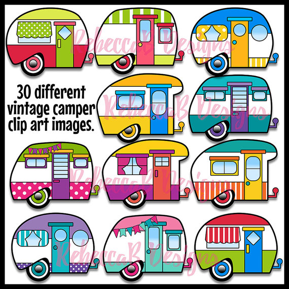 Camper clipart old fashioned. Vintage clip art retro