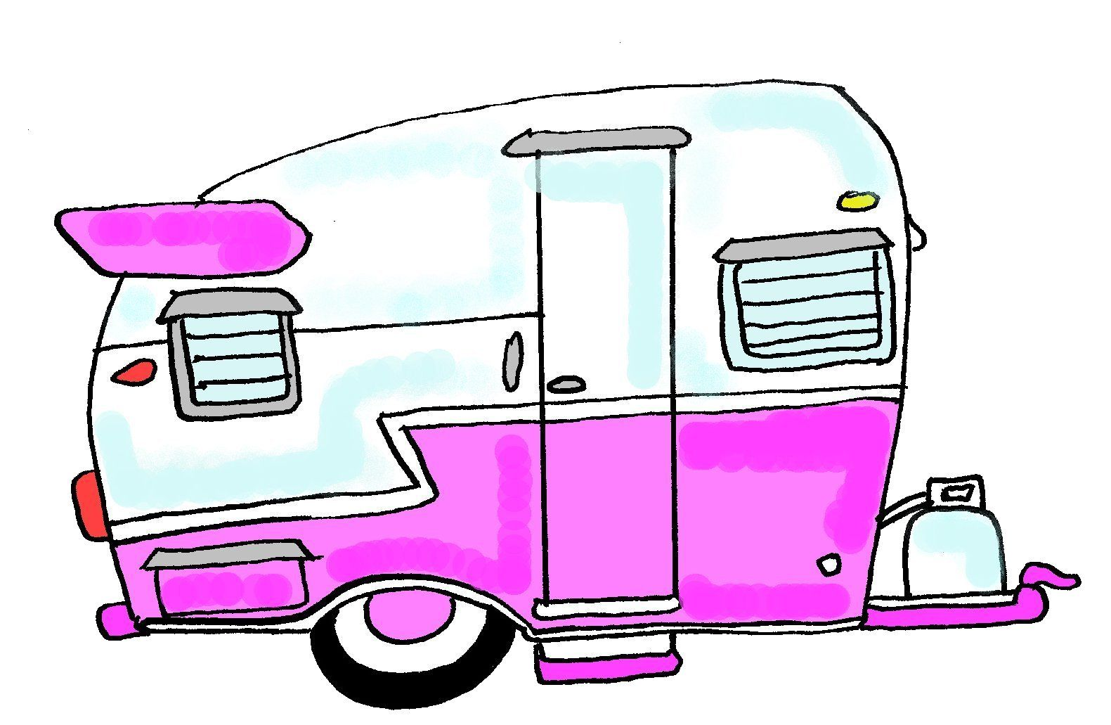 Cartoon drawing and here. Camper clipart old fashioned