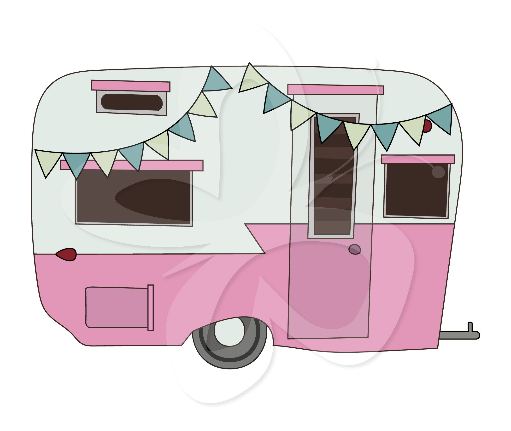 camper clipart old fashioned