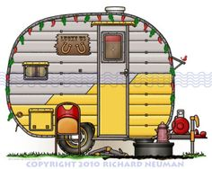 Camper clipart outdoor activity. Retro clipartfest illustration pinterest
