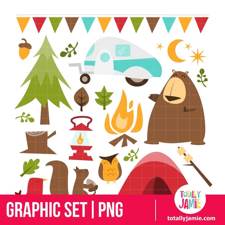 best graphic sets. Camper clipart outdoor activity