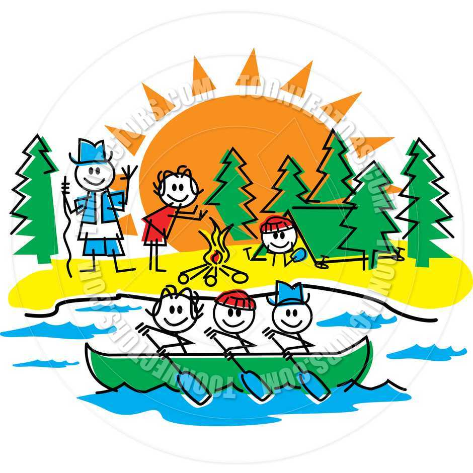 Camping fun inspirational pencil. Camper clipart outdoor activity