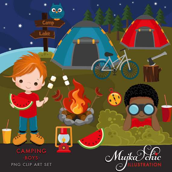 Camper clipart outdoor adventure. Camping for boys campground
