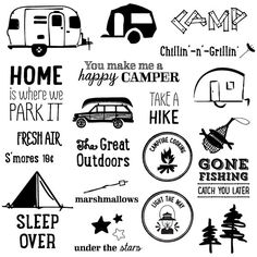 Camper clipart outdoor adventure. Mountain digital camping chalkboard