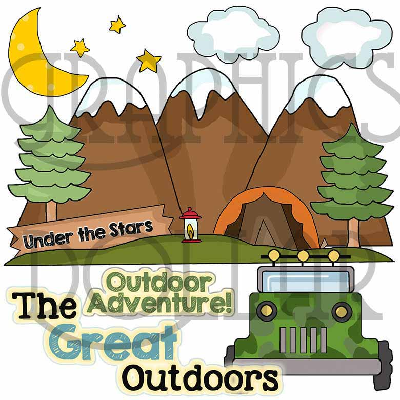 Happy campers clip art. Camper clipart outdoor adventure