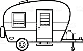 Camper clipart outline. Black and white google