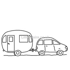 Camper clipart outline. Caravan picture make it