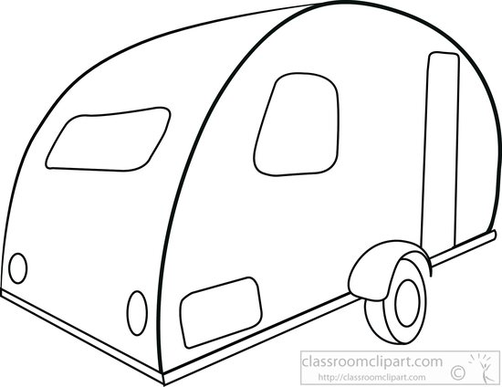 Search results for clip. Camper clipart outline