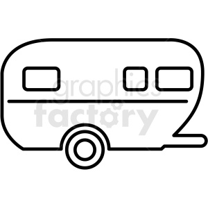 Camper clipart outline. Trailer icon royalty free