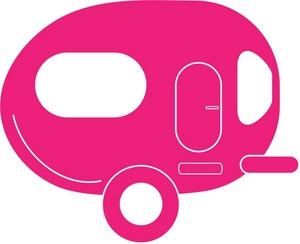 Free image truck clip. Camper clipart pink
