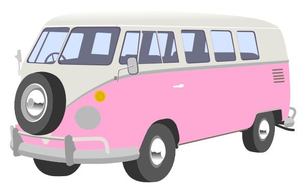 Van clip art at. Camper clipart pink