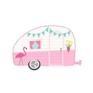 Camper clipart pink. Silhouette design store view