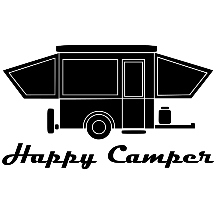 Camper clipart popup camper. Happy with windows from