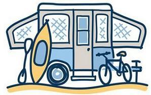 Camper clipart popup camper. Free rv tent trailer