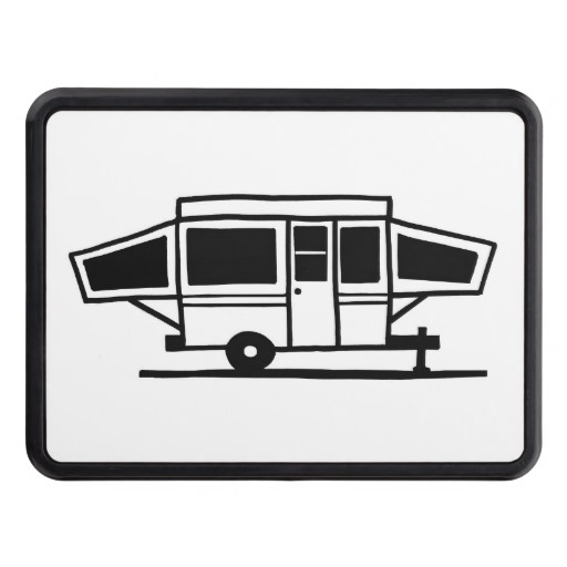 Free silhouette cliparts download. Camper clipart popup camper