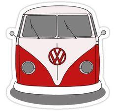 Vw campervan images google. Camper clipart red