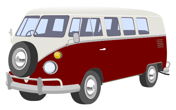 Campervan clip art at. Camper clipart red