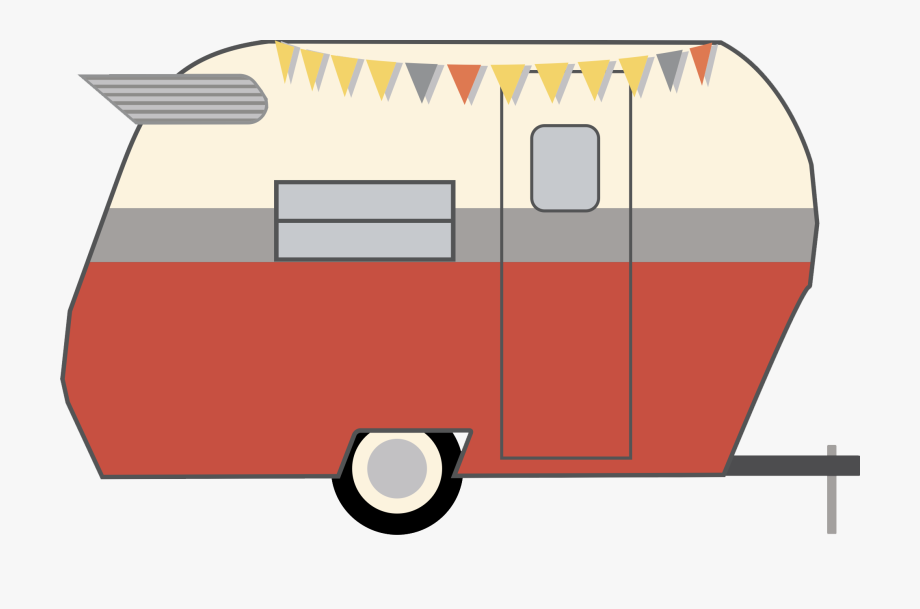 Vintage png free cliparts. Camper clipart red