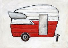 Camper clipart red. Free vintage camping cliparts