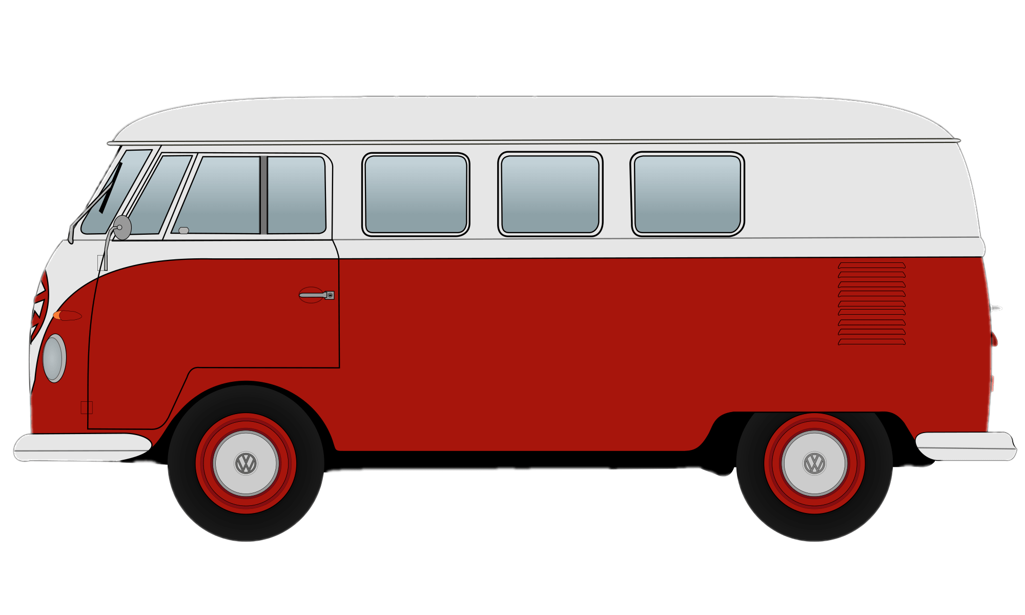 Camper clipart red. Volkswagen van transparent png