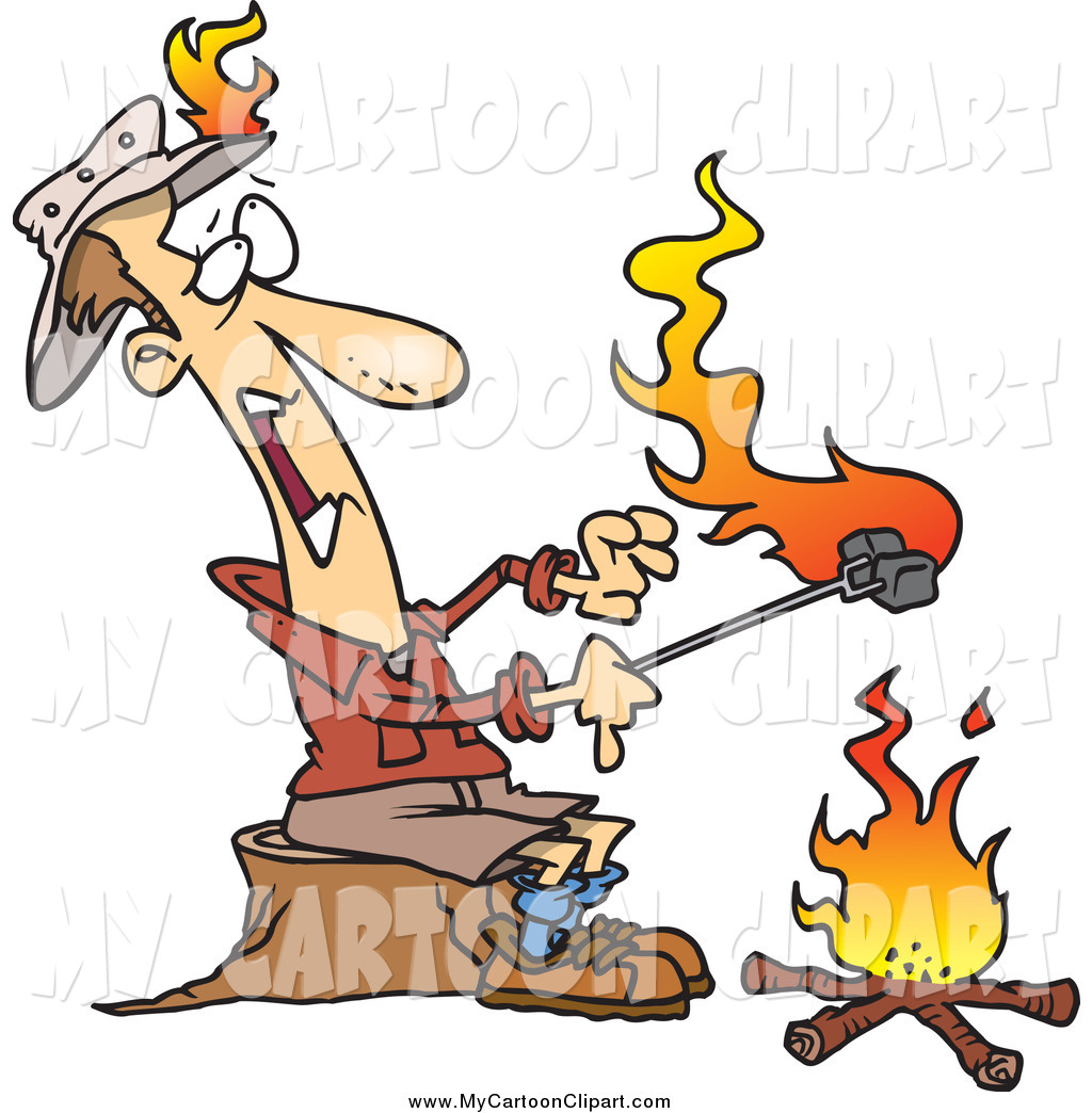 Clip art of a. Camper clipart roasting marshmallow