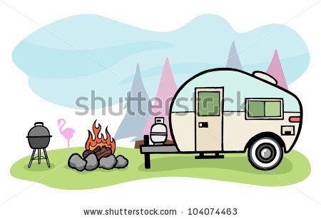 Camper clipart scene. Camping scenes clip art