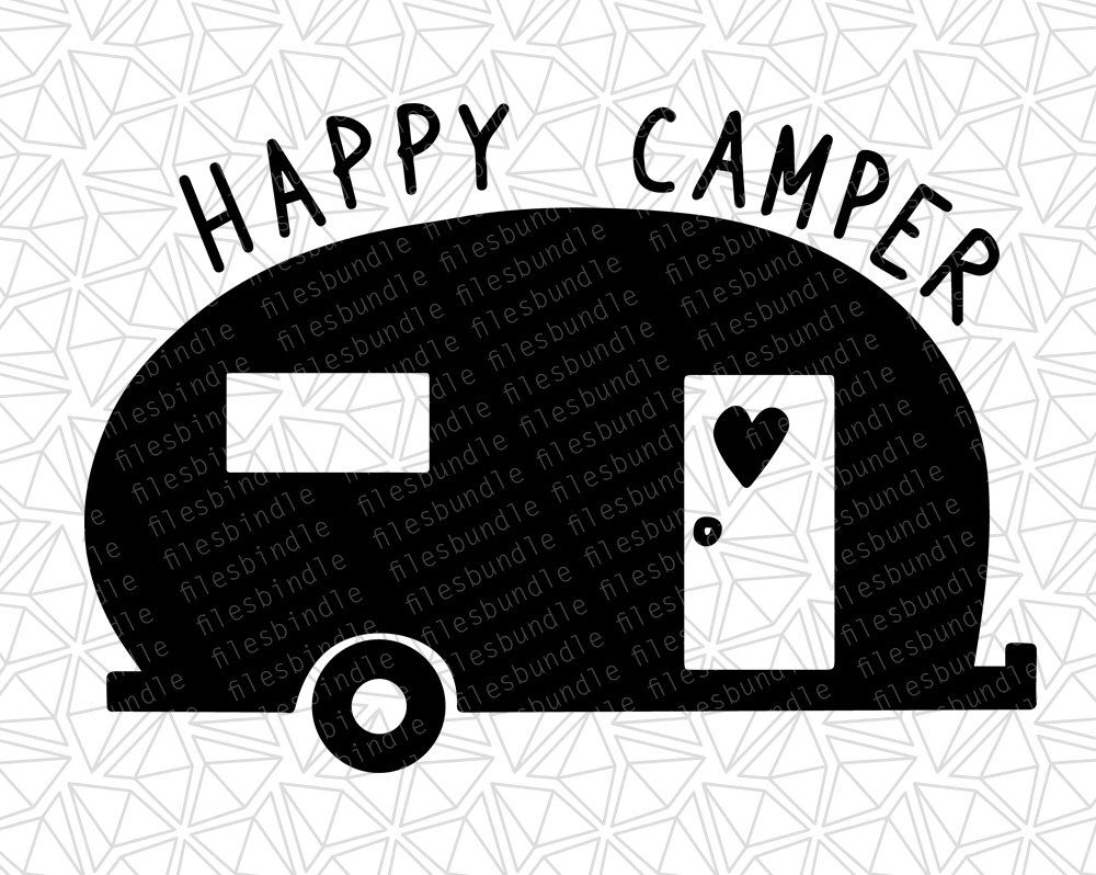 Pin by colleen kelenske. Camper clipart silhouette