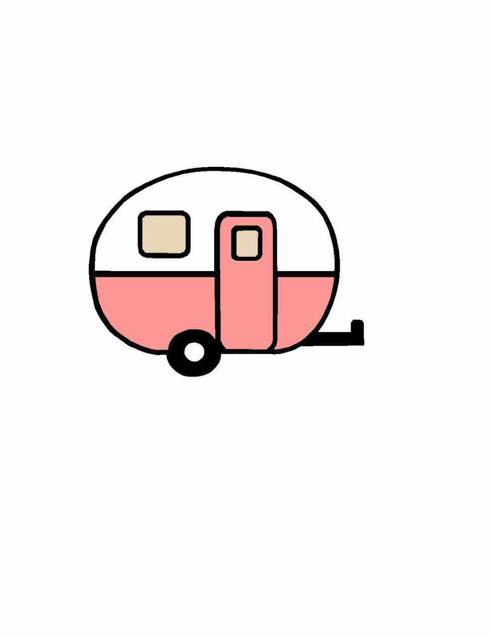 Camper clipart silhouette. Creative vintage rv collections