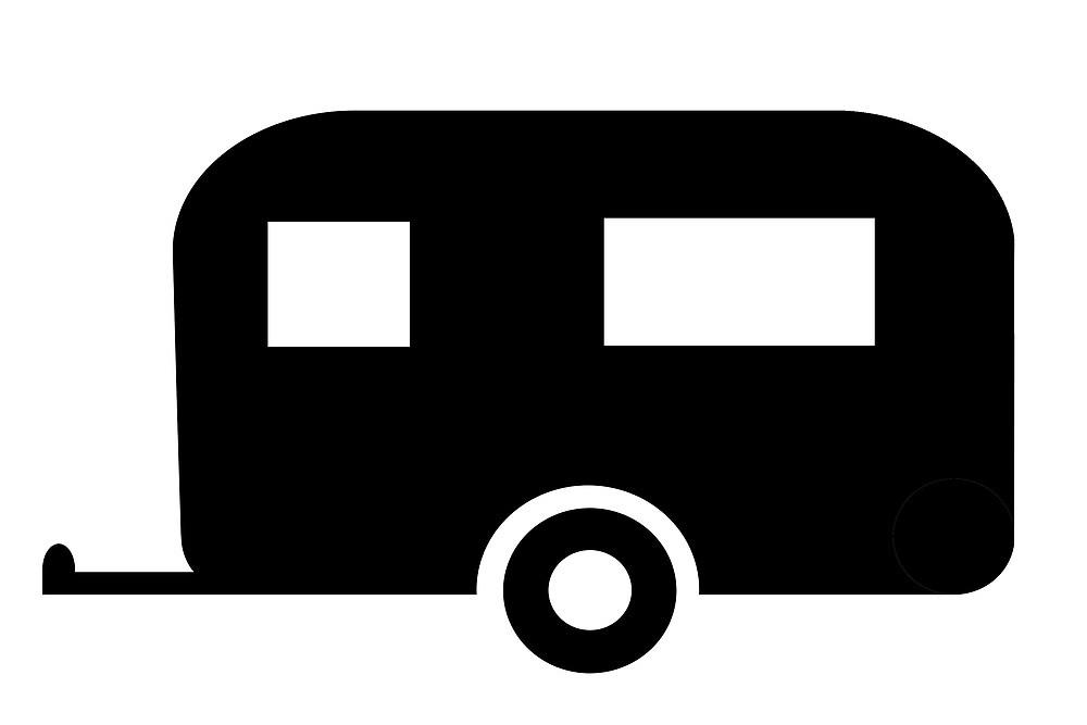 Caravan at getdrawings com. Camper clipart silhouette