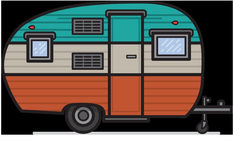 Free retro cliparts download. Camper clipart simple