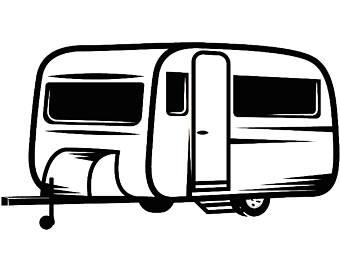 Camper clipart simple. X free clip art