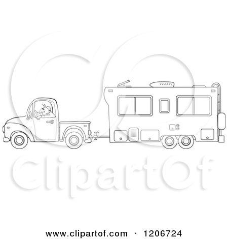 Camper clipart sketch.  th wheel clip