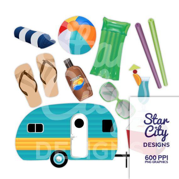 Vector art by starcitydesigns. Camper clipart summer