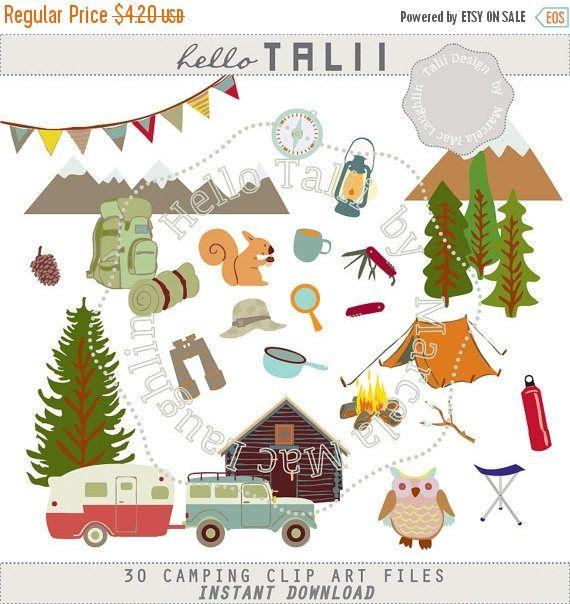 Camper clipart summer. Camping clip art happy