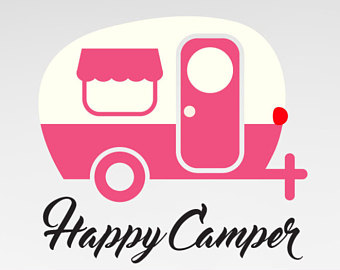 Happy etsy instant download. Camper clipart svg