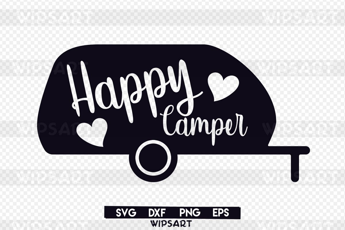 Camper clipart svg. Sale happy traveler advent