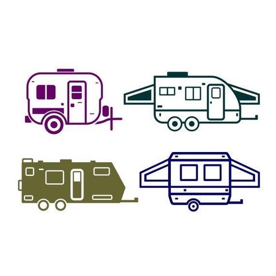 Camp cuttable design png. Camper clipart svg