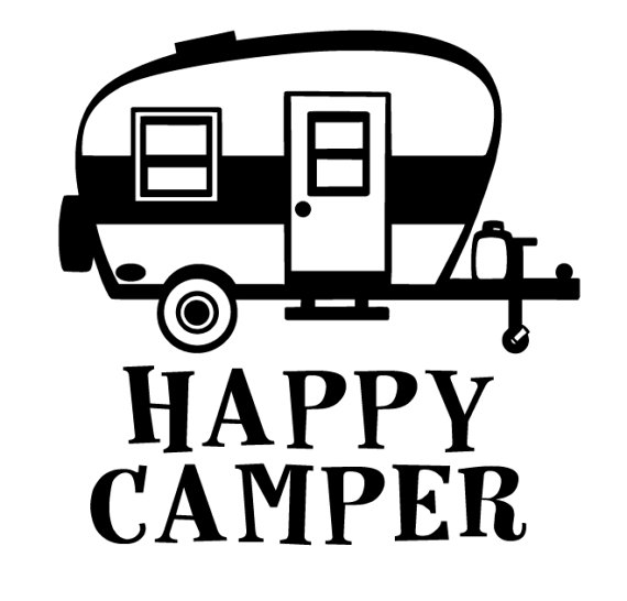 Camper clipart svg. Happy for cricut or