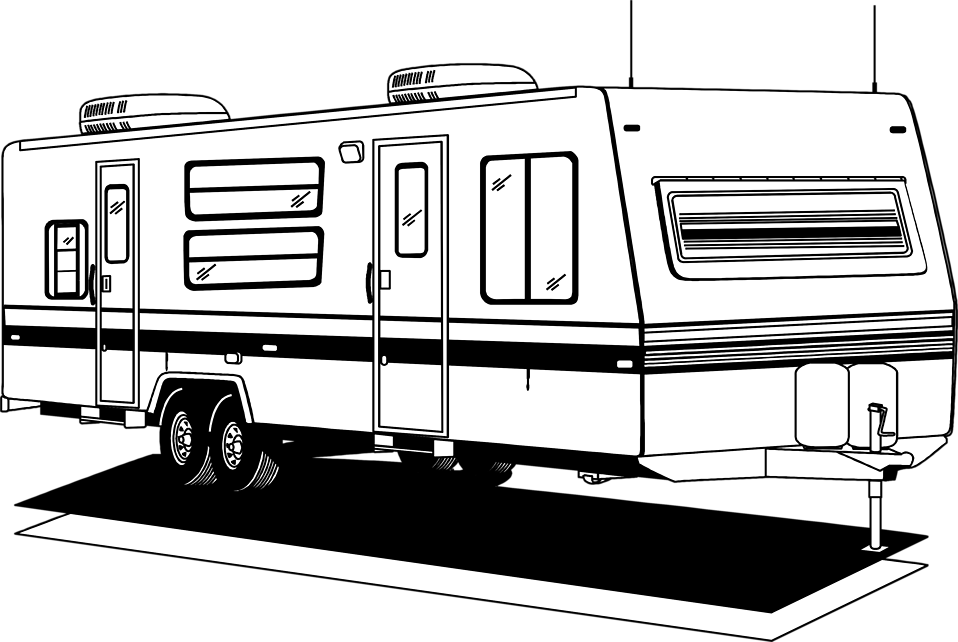 Camper clipart transparent background. Free stock photo illustration