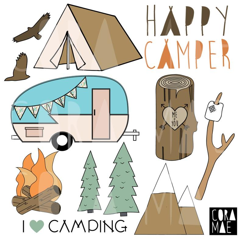 Camper clipart transparent background. Happy png files dpi