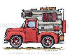 Free vintage clip art. Camper clipart truck camper