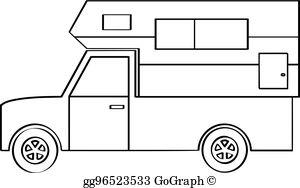 Camper clipart truck camper. Clip art royalty free