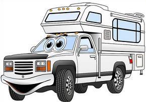 Free . Camper clipart truck camper