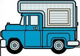 Camper clipart truck camper. Free