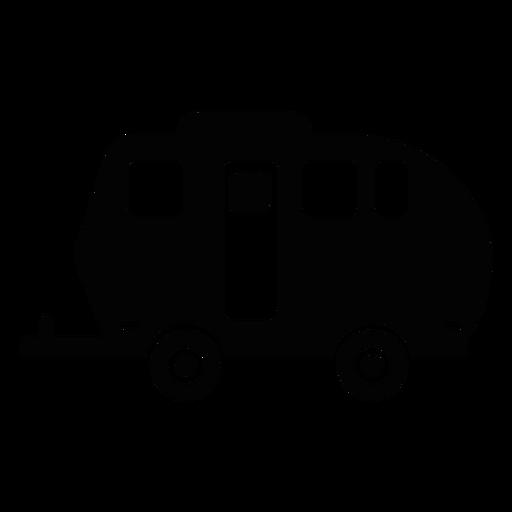 Camper clipart vector. Caravan clip art graphics