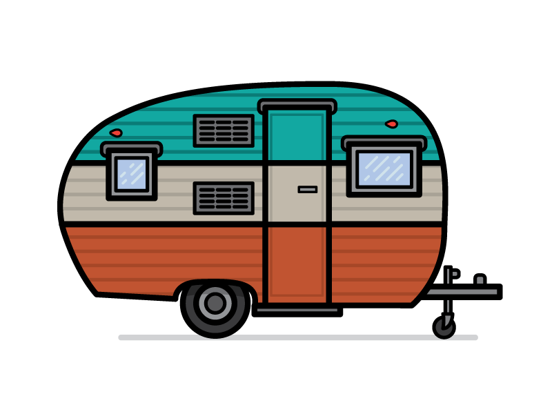 Camper clipart vector. Tony headrick projects campers