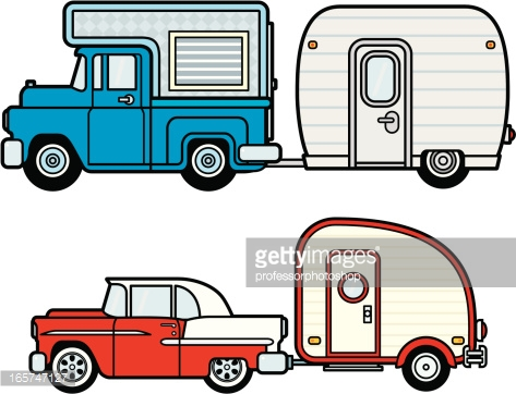 Camper clipart vector. Cartoon pencil and in