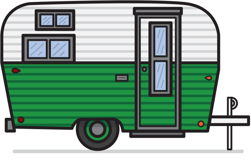 Camper clipart vector. Free retro cliparts download