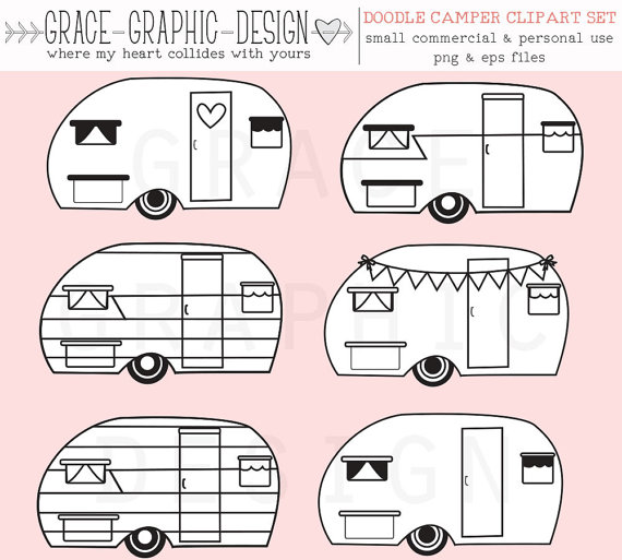 Camper clipart vector. Retro like this item