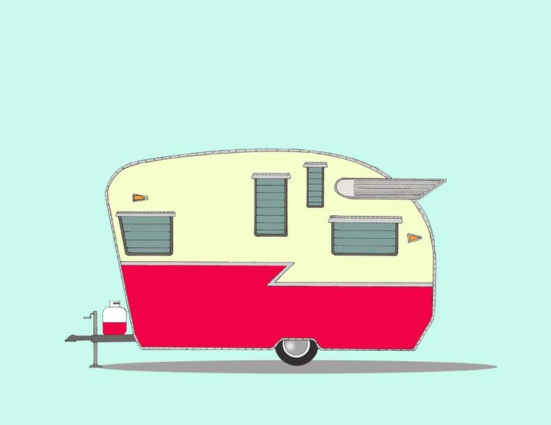 Download drawing campervans caravan. Camper clipart vintage camper